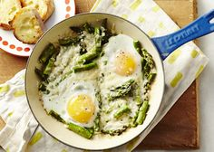 Check out our favorite family-friendly asparagus recipes, like this 3-ingredient brunch or dinner Asparagus Egg Bake. | Sweet Potato Chronicles