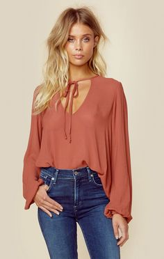 TIED & TRUE BLOUSE | @ShopPlanetBlue