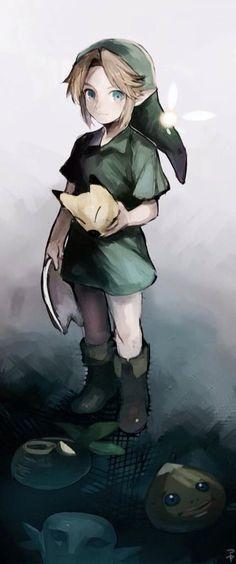 Legend Of Zelda:Majora's Mask Link in all his cuteness! The Legend Of Zelda, Geeks, Majora Mask, Manga Anime, Link Zelda, Wind Waker, My Demons, Animation, Fan Art
