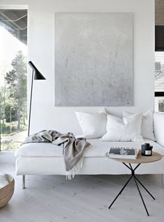 30 Fascinating Scandinavian Living Room Decor With Minimalist Style - Many people have an impression of a minimalist home as a mostly white, bland space with very little furniture and a not very welcoming feel. But a tru. Interior Design Minimalist, Home Interior Design, Minimalist Decor, Minimalist Architecture, Monochrome Interior, Modern Minimalist Living Room, Minimal Home, Space Architecture, Interior Designing