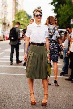 Milan Fashion Week Summer  Spring 2014 Street Style