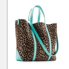 Aqua and Leopard Bag...two of my favorite things right now!!!
