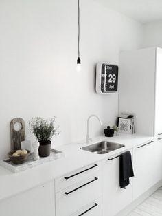 Image result for kitchen door handles black white inspiration