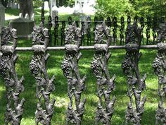 Wrought Iron Detail Jewelry Frames, Cambridge Ma, Auburn, Landscape Architecture, Cemetery, Wrought Iron, Gates, Egyptian, Environment