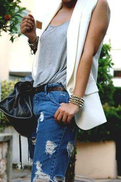 sleeveless blazer                                                       …