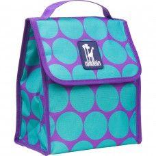Kids Lunch  Box & Bags: Big Dot Aqua Munch 'n Lunch Bag