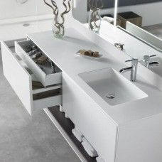 Plan Vasque DuPont™ Corian® Toronto + Meuble Carthage
