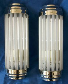 Pair of Art Deco Cinema Style Wall Lamps 3311 | eBay