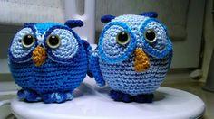Owls, glowing in the dark eyes