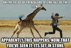 The Doctor and a giraffe :) this makes me happy for some reason