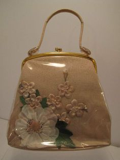 Vintage Vinyl Flower Collage Bag--I always thought these were so pretty!