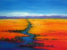 The online gallery of Australian contemporary artist Yvonne Ramsay. Contemporary Landscape, Contemporary Artists, Australian Desert, Australian Artists, Nature Paintings, Online Gallery, Painting Inspiration, Abstract Art, River