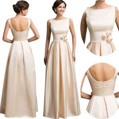 GK Mother of Bride Long Formal Bridesmaid Prom Gown Party Cocktail Evening Dress
