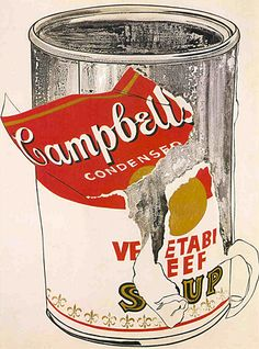 Big Torn Campbell's Soup Can, 1962, Andy Warhol