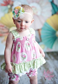 One piece Toddler Baby Ruffle  ROMPER in..... by ItsaBowsLife