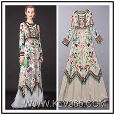 Wholesale Fashion Embroidered Long Evening Dress For Women