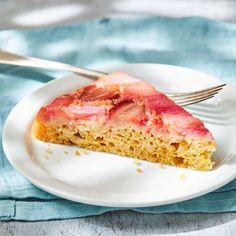 Healthy Dessert Recipes, Just Desserts, New Recipes, Delicious Desserts, Favorite Recipes, Yummy Recipes, Cake Recipes, Rhubarb Upside Down Cake