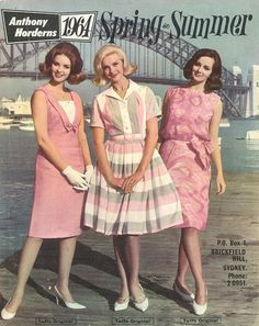 """""""Anthony Horderns"""" catalogue, Spring and Summer 1964 Vintage Outfits, 1960s Outfits, Mode Outfits, 60s And 70s Fashion, Retro Fashion, Vintage Fashion, 1960s Dresses, Vintage 1950s Dresses, Moda Vintage"""