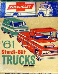 Chevrolet '61, including the Cab-Forward Corvan (rear-engine, flat 6) - LGMSports.com