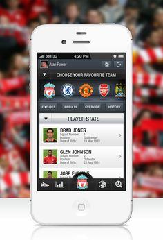 Football iPhone App Design