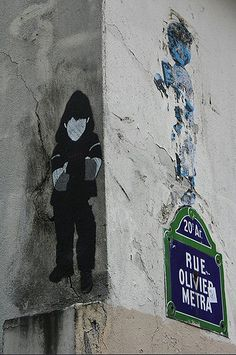 Street Art dans la rue Olivier-Métra (Paris 20ème)