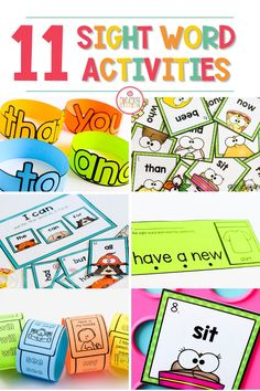 Throw those boring worksheets out the window and introduce these great, engaging sight word activities to your class! This variety of activities will surely meet all of your learners' needs. From editable printables to fun games your class will love learning about sight words! #sightwords #literacy #reading Sight Word Spelling, Sight Word Sentences, Sight Word Practice, Cvc Words, Learning Sight Words, Sight Word Activities, Interactive Word Wall, Popcorn Words, Sight Word Coloring
