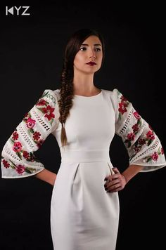 of Vía Ukrainian Culture Centr Hunghada Folk Fashion, Ethnic Fashion, Womens Fashion, Ukrainian Dress, Fashion Details, Fashion Design, Traditional Fashion, Ukraine, Cotton Dresses