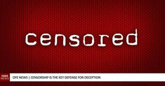 Censorship exists primarily as a way to control information, tyranny cannot exist without it and deception always exists with it. Censorship and tyrants have a long history together. Profession Of Faith, Alternative News, Printing Press, Freedom Of Speech, Loom, Christianity, Documentaries, Catholic, Literature