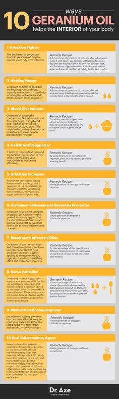 Geranium Oil Benefits http://www.draxe.com #health #holistic #natural