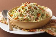 "We have two words for you: ""Combine ingredients."" That's the extent of the effort it takes to make Ranch-Style Coleslaw with Bacon."