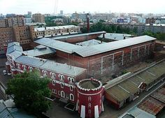 Butyrka Prison, Moscow, Russia: This is the largest central transit prison in Moscow and it's known for its brutality. It held inmates during the Great Purge and thousands of them were executed. There are AIDS and tuberculosis epidemics there as well. Supermax Prison, White Lake, Political Prisoners, Water Tower, Places Ive Been, Around The Worlds, Mansions, House Styles, Famous Architects