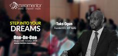 Toks Ogun, CEO SOPNotify to share his valuable entrepreneurial tips with mentees at #Mara1on1 at #Abuja Oct 14.