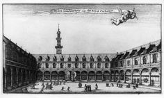 The Royal Exchange in London was officially opened on the 23 January 1571 by Queen Elizabeth I. The Exchange was founded by the merchant Thomas Gresham to act as a centre of commerce for the City of London.