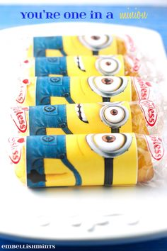 You're One In A Minion Twinkie Printable is such a cute handmade valentine idea. Kids love a cute minion, twinkie and Valentine's Day