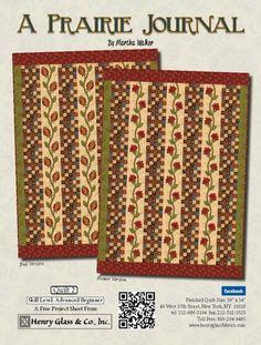 A Prairie Journal- Quilt 2 by Martha Walker of Wagons West Designs