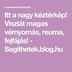 Itt a nagy kéztérkép! Viszlát magas vérnyomás, reuma, fejfájás! - Segithetek.blog.hu Blog, Math, Life, Astrology, Mathematics, Math Resources