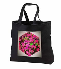 "DYLAN SEIBOLD - PHOTO ABSTRACTION - FLOWER CUBE - PINK, GREEN, BROWN - Tote Bags Be the first to review this item   Price:	$28.74 Sale:	$26.44 + $5.71 shipping You Save:	$2.30 (8%) Size:   In Stock. Get it as fast as Oct. 11 - 14. Ships from and sold by 3dRose LLC. 100% cotton twill Dual cotton web handles (19.5"") Custom image affixed to durable, heavy-duty cotton twill material Jumbo tote available in black only Standard tote available in black or denim"