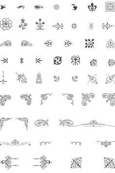 85 Free Vintage Vector Ornaments. @Elizabeth Barrett - you might find some of these useful for wedding design stuff