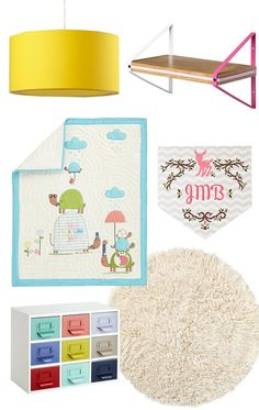 Quirky, modern nursery.