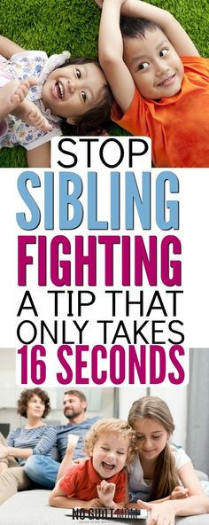 Want to stop sibling fighting and improve kid behavior? This positive parenting tip will stop kids from fighting and give them a skill they can use lifelong. Perfect advice for moms who believe in gentle parenting. via @noguiltmom