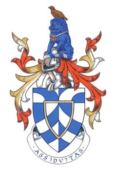 Arms of John Barry Mortimer - English College of Arms.  I'm liking the Chinese lion in the crest. :)