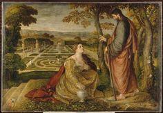 Noli me tangere (ou Madeleine dans le jardin) - Sustris Lambert (1515/1520-après 1568), Lille, Palais des Beaux-Arts