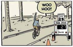Superando os limites de bike. #tirinha #quadrinhos
