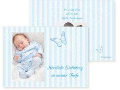 Soft Stripes Einfachkarte 2-seitig 170x120mm blau / türkis, Babykarte, Geburtskarte, Taufkarte, Taufe, Baby, Karten, karten4you, karten4you.ch Renting, Cordial, Invitations, Birth, Blue