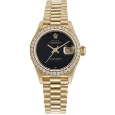 ladies rolex gold black dial and diamond bezel watch get the lowest price on ladies rolex gold black dial and diamond