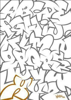 Image result for graffiti alphabet throwie style
