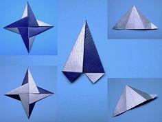 origami star - triangle