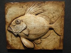 John Dory Fish Wallsculpture Nature Gift Ocean by SculptureGeek Wood Carving Patterns, Carving Designs, Octopus Art, Fish Art, John Dory Fish, Ceramic Art, Ceramic Animals, Ocean Artwork, Art Carved