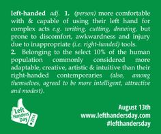 Left Handers Day graphics to share and posters to download