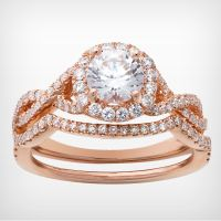 Wilson Diamonds  14k rose gold R5180E & R5180W